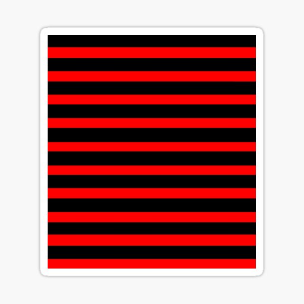 horizontal black and red stripes  Sticker