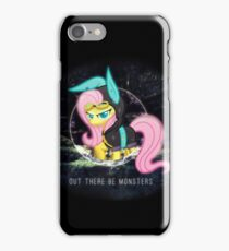 Fluttershy - Out There Be Monsters  iPhone Case/Skin