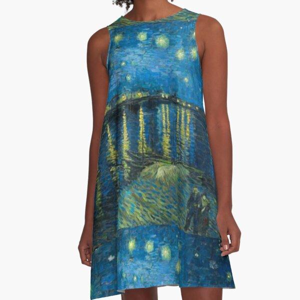 Starry Night Over the Rhône woman dress  A-Line Dress