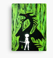 A Girl and Her Dragon Canvas Print