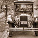Old Restored Truck in modern Streets by henuly1