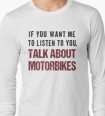 Rude Motorbike Shirt Long Sleeve T-Shirt
