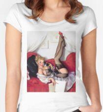 Gil Elvgren Appreciation T-Shirt no. 05 Women's Fitted Scoop T-Shirt