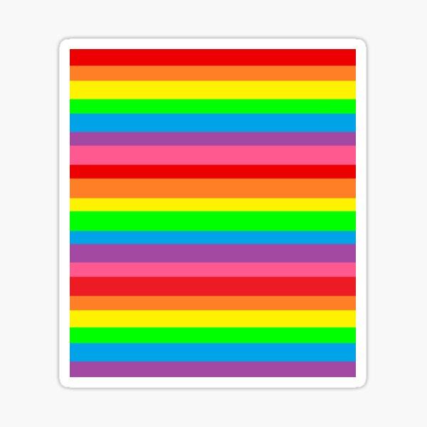 horizontal rainbow stripes Sticker