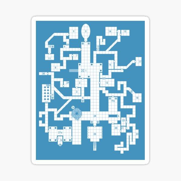Old School Blue Dungeon Map Sticker