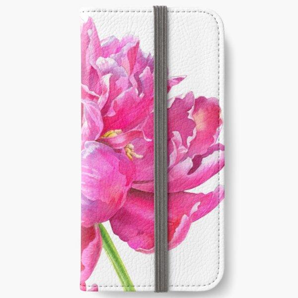 Peony Flower - Spring Flower in Bloom iPhone Wallet