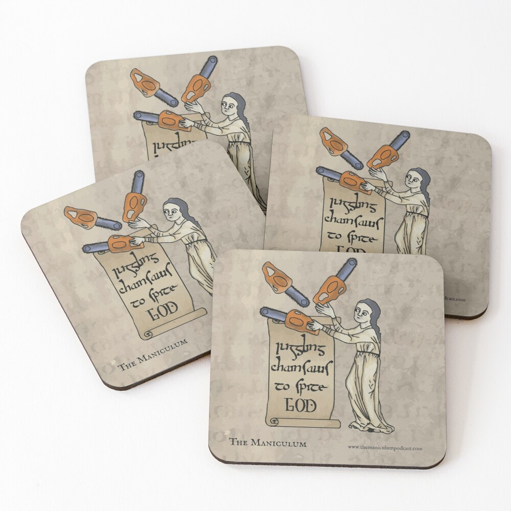 Juggling Chainsaws Coasters (Set of 4)