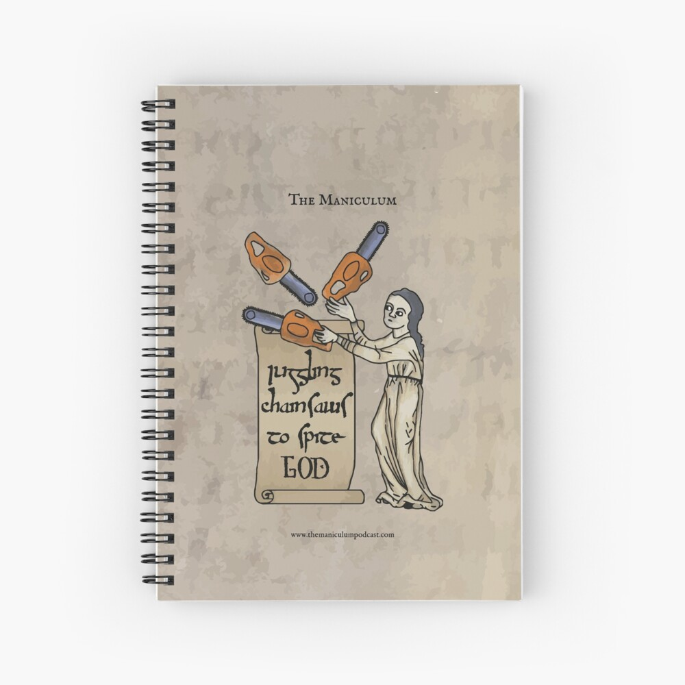 Juggling Chainsaws Spiral Notebook