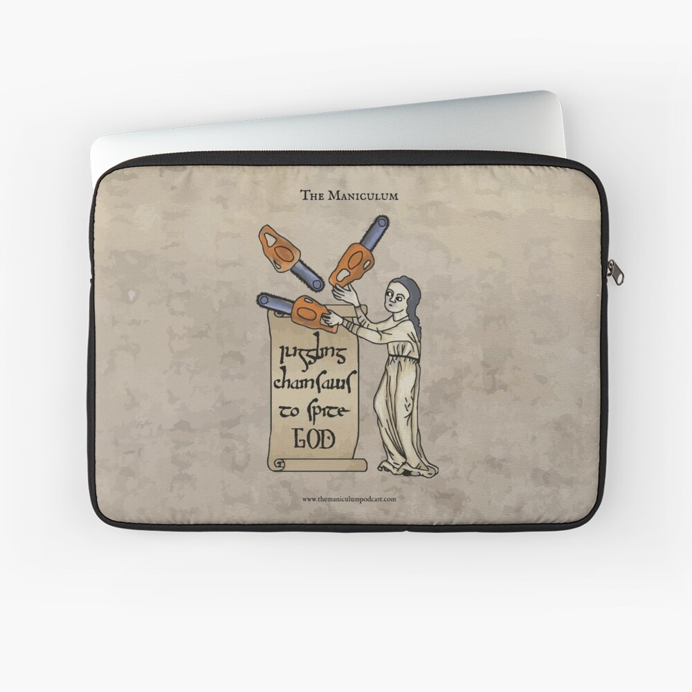 Juggling Chainsaws Laptop Sleeve