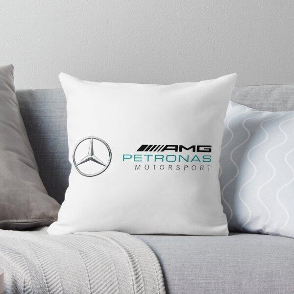 mercedes benz blue Throw Pillow