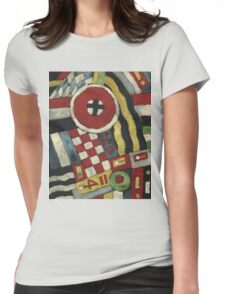 Marsden Hartley - Berlin Abstraction. Abstract painting: abstract art, geometric, expressionism, composition, lines, forms, creative fusion, spot, shape, illusion, fantasy future Womens Fitted T-Shirt