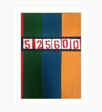 525600 minutes Art Print