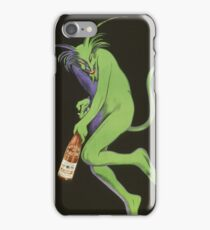 Leonetto Cappiello - Maurin Quina. Man portrait: green devil,  devil, absinthe, beard, alcohol, bottle , boyfriend, smile, manly, sexy men, mustache iPhone Case/Skin