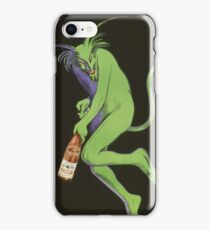 Leonetto Cappiello - Maurin Quina. Man portrait: green devil,  devil, absinthe, beard, alcohol, bottle , boyfriend, smile, manly, sexy men, mustache iPhone Case/Skin