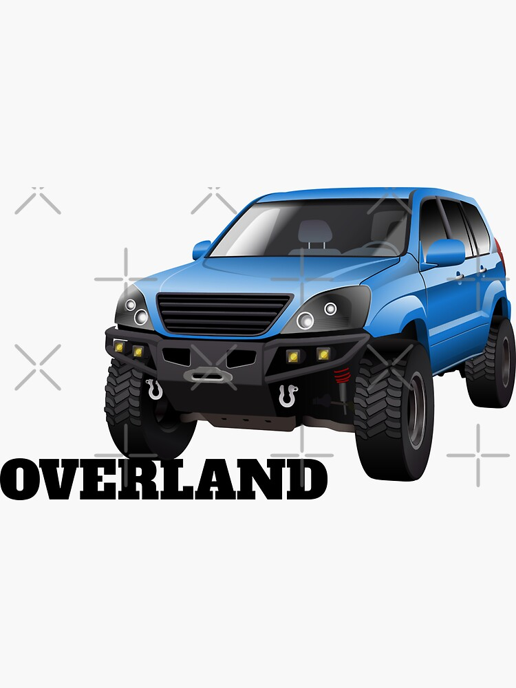 Overland luxury SUV 4x4 offroad illustration by mmg1design