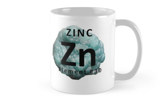 Chemistry mug zinc element periodic table mugs by nerdinspired chemistry mug zinc element periodic table by nerdinspired urtaz Gallery