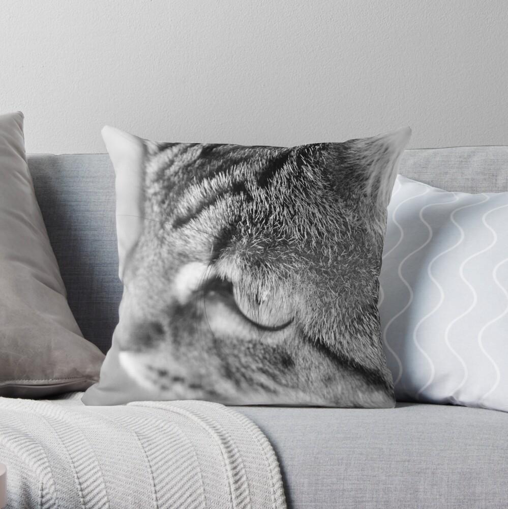 Miss Mona Throw Pillow