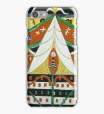 Marsden Hartley - Painting No. 50. Abstract painting: abstract art, geometric, expressionism, composition, lines, forms, creative fusion, spot, shape, illusion, fantasy future iPhone Case/Skin