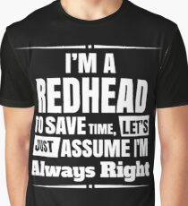 Redhead - Im A Redhead Graphic T-Shirt