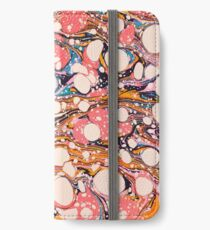 Psychedelic Retro Marbled Paper Pepe Psyche iPhone Wallet
