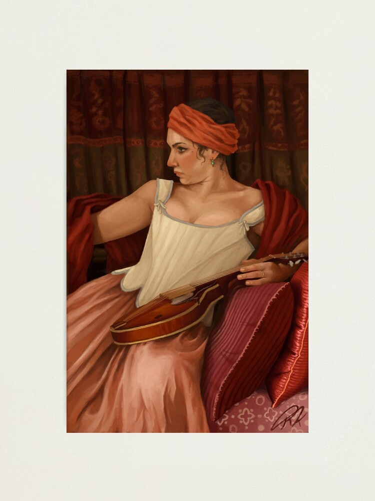 Alternate view of Girl with the Mandolin  Photographic Print