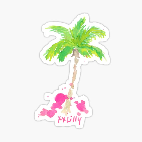 Palm Tree Glossy Sticker