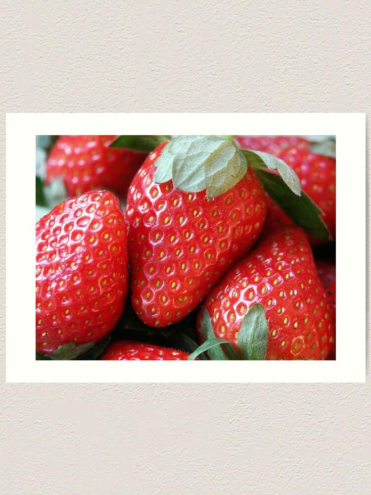 Alternate view of Strawberries Art Print