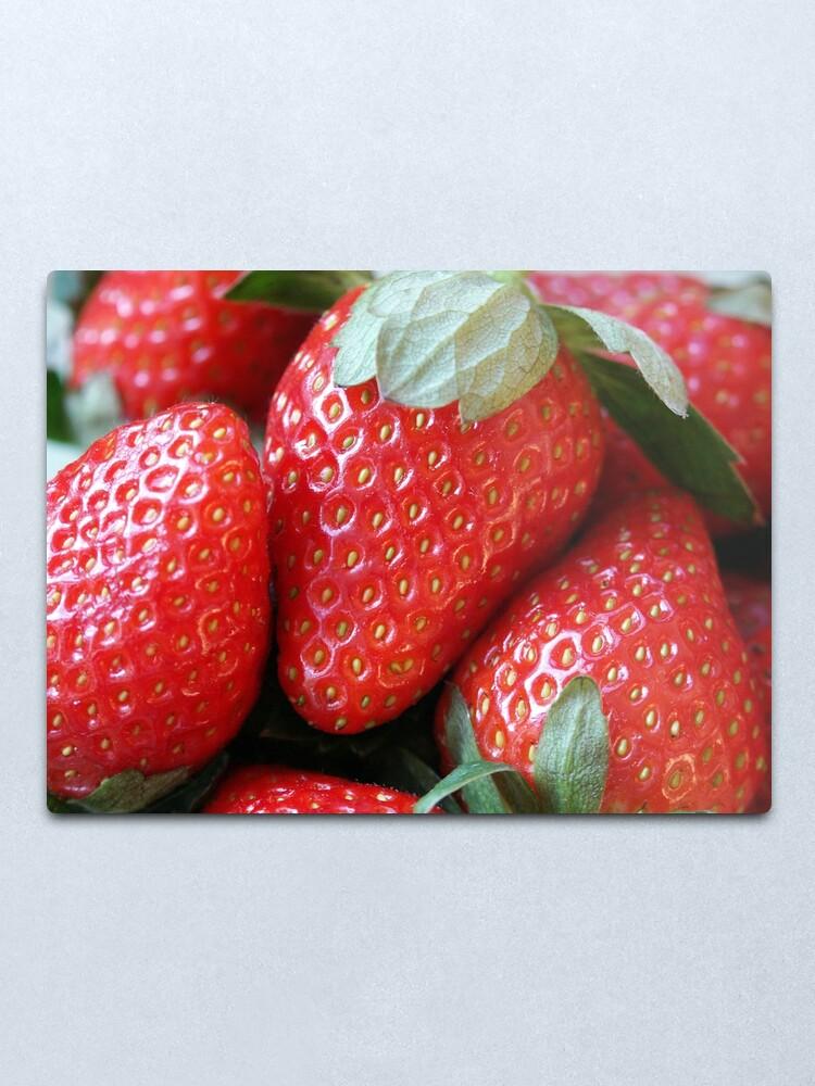 Alternate view of Strawberries Metal Print