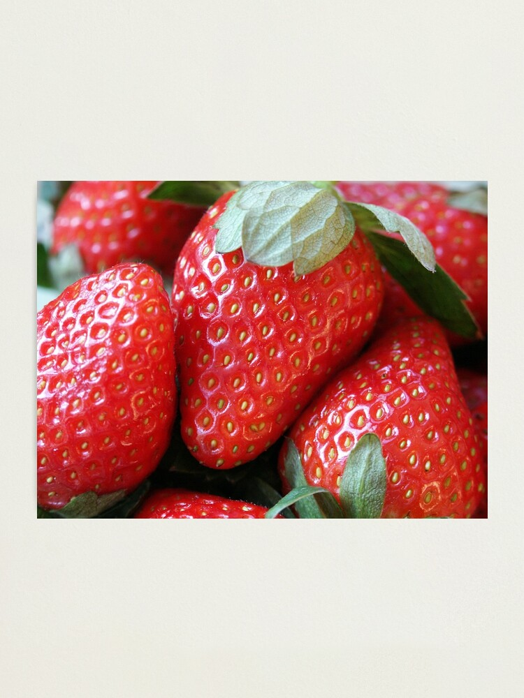Alternate view of Strawberries Photographic Print