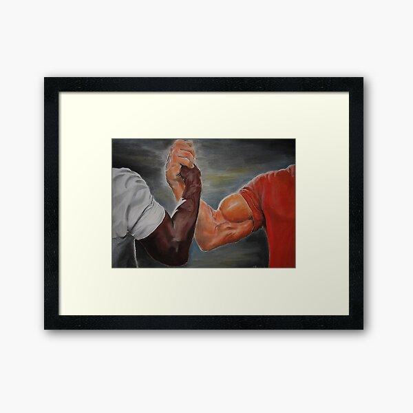 Epic Handshake Meme Framed Art Print