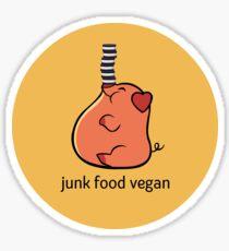 Junk Food Vegan Sticker