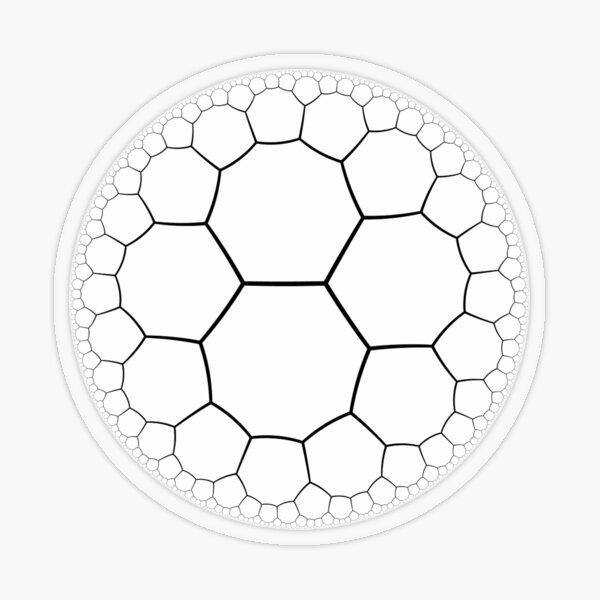Geometry - Octagon Tessellation Transparent Sticker
