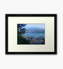 Cow Hollow, Bay and Angel Island Framed Print