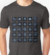 Snowflake collage - Season 2013 dark crystals Unisex T-Shirt