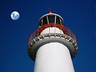 Lighthouse and the Moon by Sandro Rossi
