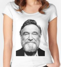 robin williams beard Women's Fitted Scoop T-Shirt