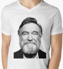 robin williams beard Men's V-Neck T-Shirt
