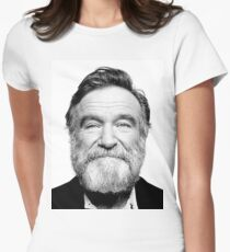 robin williams beard Women's Fitted T-Shirt