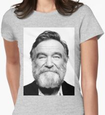 robin williams beard Womens Fitted T-Shirt