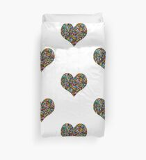 A Rainbow of Bugle Beads Duvet Cover
