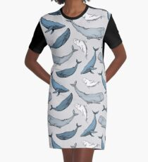 Whales are everywhere Graphic T-Shirt Dress