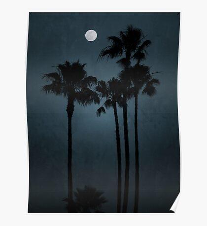 Coastal Moon Poster