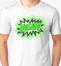 Go Vegan, Comic Book Style Unisex T-Shirt