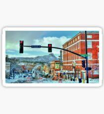 After A Snowstorm In Prescott Arizona  Sticker