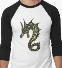 Dragon, Tattoo Style, Fantasy Men's Baseball ¾ T-Shirt