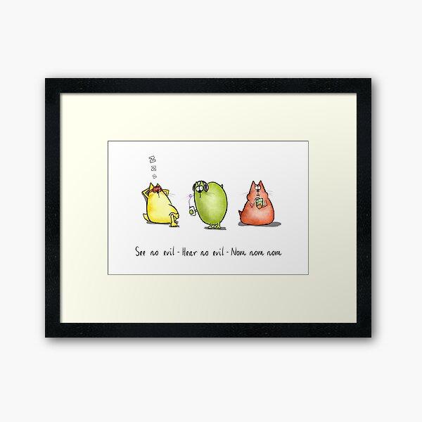 Three Wise Moggies Framed Art Print