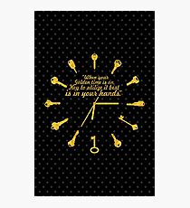 When golden time... Life Inspirational Quote Photographic Print