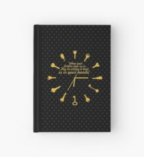 When golden time... Life Inspirational Quote Hardcover Journal