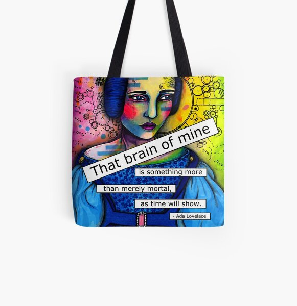 Ada Lovelace All Over Print Tote Bag
