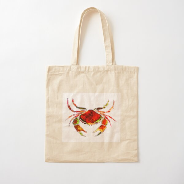 Red Crab Cotton Tote Bag